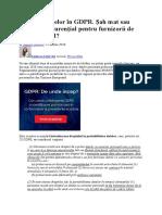 Portarea Datelor În GDPR