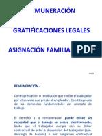 Derecho Laboral II (Derecho Laboral Individual) - Remuneracion Gratificacion Asignacion Familiar