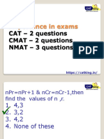 Quants for CAT,CMAT,NMAT