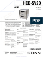 Sony HCD-SV2D Service manual