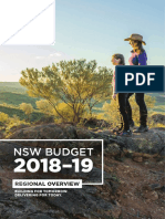 NSW Budget 2018-19 - Regional Overview