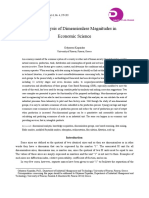 The Analysis of Dimensionless Magnitudes in Economic Science