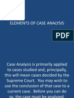 Elements of Case Analysis