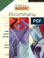 Contacto y Relacion en Psicoterapia-- Jean-Marie Robine- extractos del libro.pdf