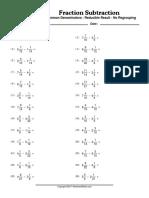 WorksheetWorks Fraction Subtraction 1