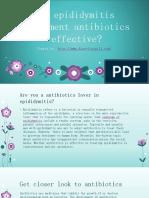 Is Epididymitis Treatment Antibiotics Effective