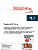 Difference Between Food Additives,Food Fortification,