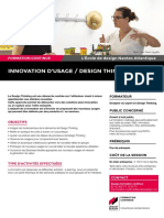 "Description du module court de formation continue ""Innovation d'usage/ Design Thinking"""