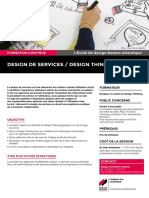"Description du module court de formation continue ""Design de services / Design Thinking"""