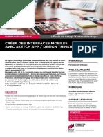 """Description du module de formation continue """"Prototyper avec Sketch App / Design Thinking"""""""