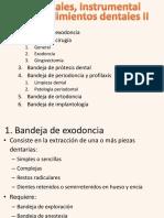 UT 6 Materiales, Instrumentales y Procedimientos Dentales II