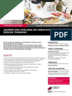 """Description du module court de formation continue """"Animer un atelier de créativité / Design thinking"""""""