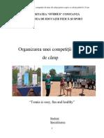 Organizarea Unei Competitii de Tenis de Camp
