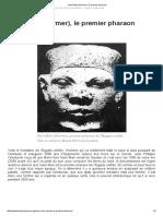 Naré Mari (Narmer), Le Premier Pharaon