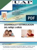 Desarrollo y Estimulacion Del Niñ de 3 Años