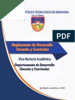 reglamento desarrollo docente