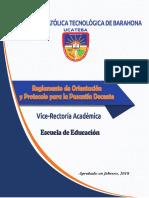 reglamento pasantia docente
