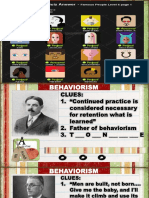 CLASSROOM APPLICATION OF BEHAVIORISM
