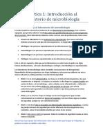 Práctica 1 Procedimientos de Laboratorio Microbiológico