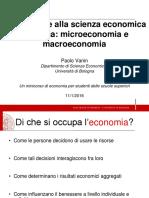 1 Incontro - Introduzione Alla Scienza Economica Moderna Microeconomia e Macroeconomia (1)