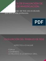 propuesta de evaluacion de trabajo de tesis