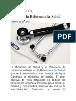 Proyectos de Ley de La Salud