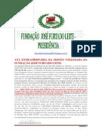 Prt 948545 Ata Extraordinária Da Fundação José Furtado Leite.