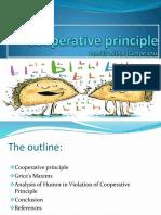 -Presentation Cooperative-Principle and Humor