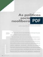 Sonia Draibe - As políticas sociais e o neoliberalismo.pdf