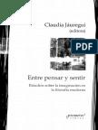 Jauregui Claudia - Entre Pensar Y Sentir.pdf