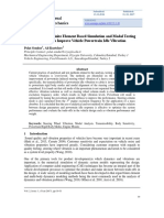 Application of Finite Element Based Simulation and Modal Testing Methods to Improve Vehicle Powertrain Idle Vibration