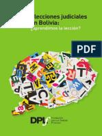 Informe Dplf Elecciones Judiclaes