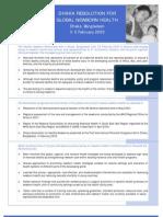 Healthy Newborn Partnership - Dhaka Resolution for Global Newborn Health, 3 - 5 February, 2003