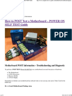 How-To Post Test a Motherboard – Power on Self Test Guide