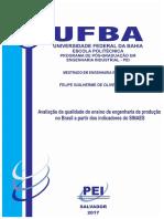 Avaliação da qualidade do ensino de engenharia de produção no Brasil a partir dos indicadores do SINAES
