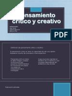 Pensamiento Critico y Creativo