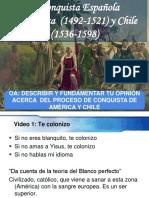 Conquista de Amèrica y Chile Sintesis
