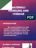 Materials Handling and Storage