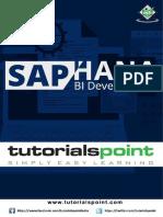 SAP HANA BI Development Tutorial