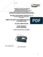 Analisis de Objeto Tecnico LA RADIO