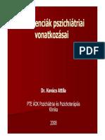 Dr. Kovács Attila. PTE ÁOK Pszichiátriai És Pszichoterápiás Klinika