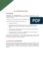 5. Proceso de Hominizacion