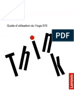 Guide d'utilisation du ThinkPad Yoga 370