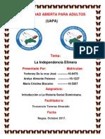 Trabajo Final de Introducion a La Historia Social Dominicana