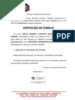 Certificado de Trabajo CIBY 2016 - 2017 Final
