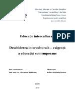 Deschiderea Interculturală – Exigenţă a Educaţiei Contemporane