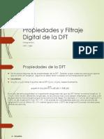 Propiedades y Filtraje Digital de La DFT