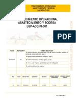 Procedimiento Abastecimiento y Bodega, LGP-ADQ-PI-001 Rev. 2