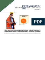 Directorio de Empresas Exportadoras de La Región de Cajamarca 2015