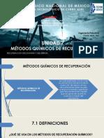 UNIDAD 7 Métodos Químicos de Recuperación.